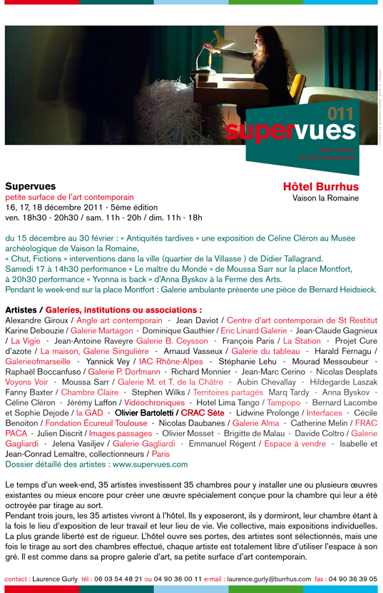 Programme 2011 Supervues