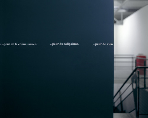 (légende) - Douglas GORDON, « From God to nothing »